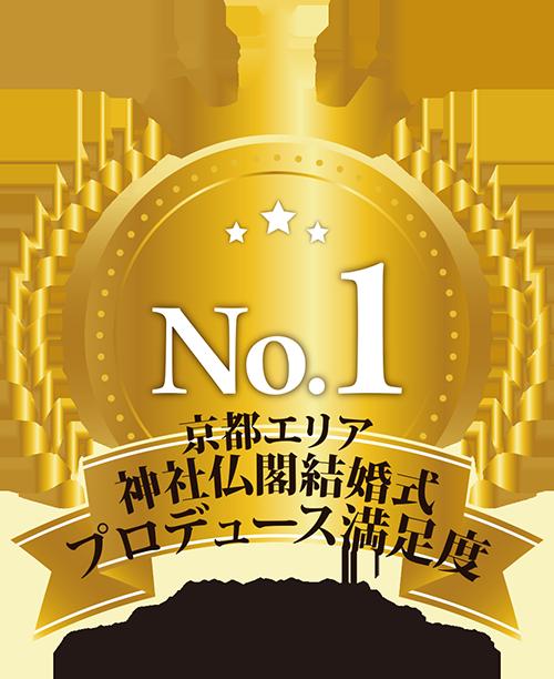 京都エリア神社仏閣結婚式プロデュース満足度 No.1
